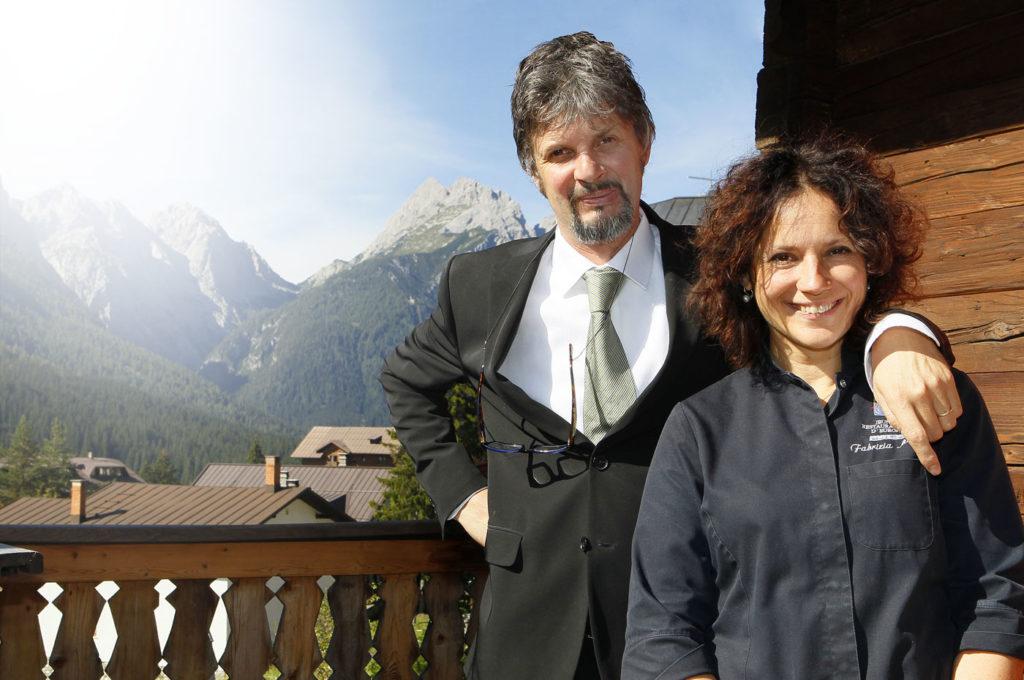 Fabrizia Meroi con il marito Roberto Brovedani