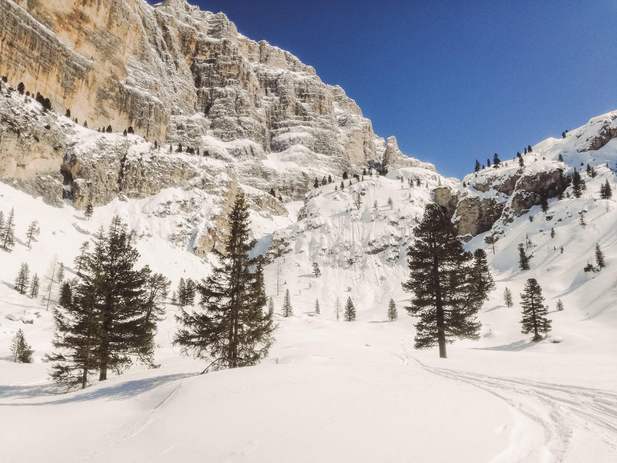 Paesaggio invernale dall'Armentarola