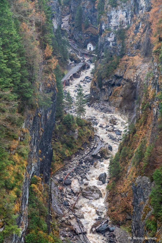 Serrai di Sottoguda dopo il disastro dell'alluvione - foto di Moreno Geremetta
