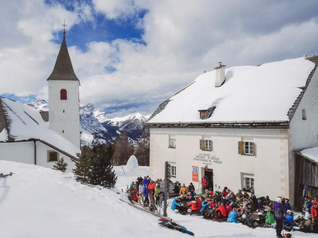 Rifugio Santa Croce in inverno - foto Dolomiti Review