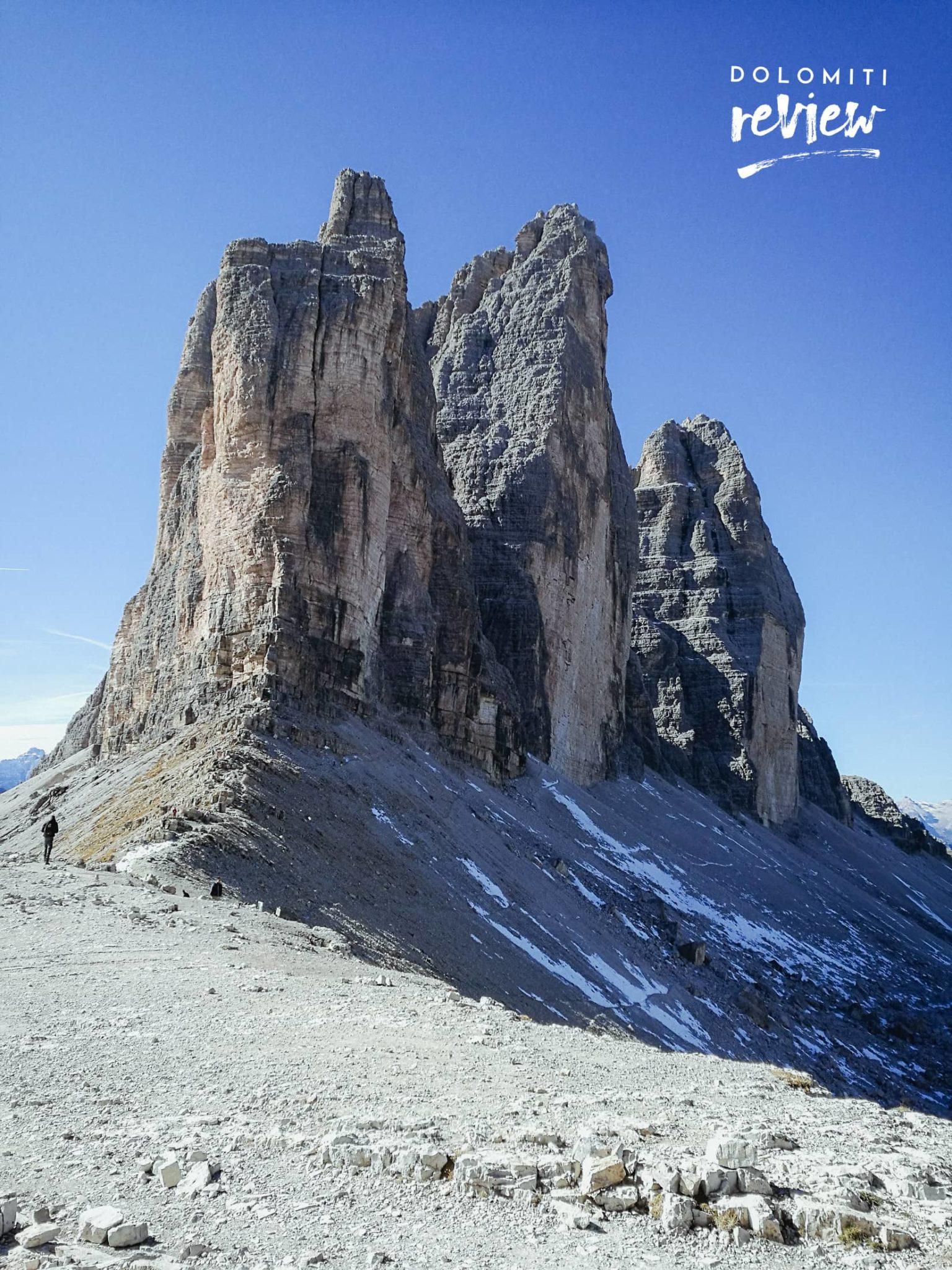 Le Tre Cime da Forcella Lavaredo - Foto © Dolomiti Review