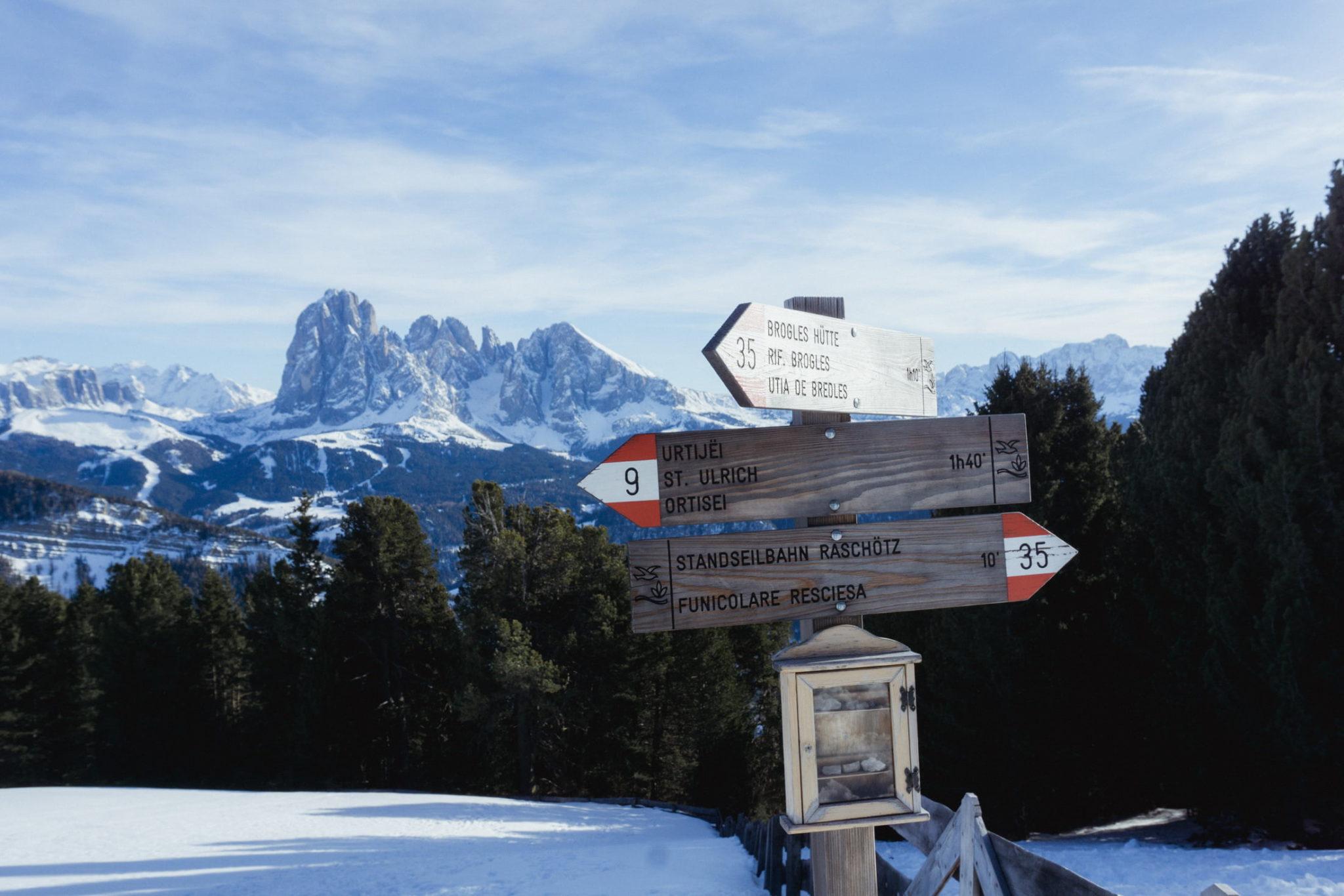 Escursione invernale da Ortisei al Rifugio Resciesa - Foto © Dolomiti Review