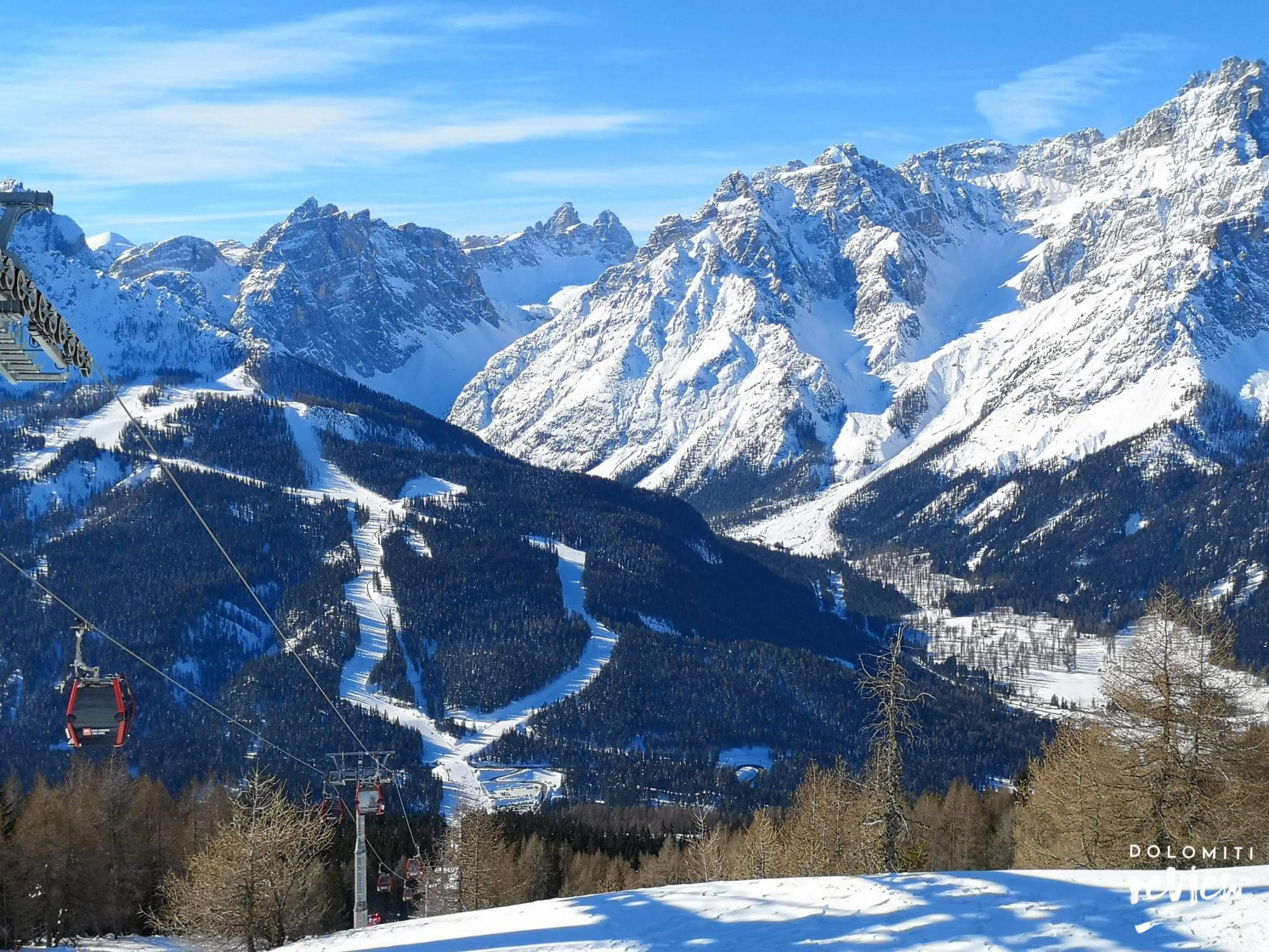 Ski area 3 zinnen dolomites Montecroce Comelico