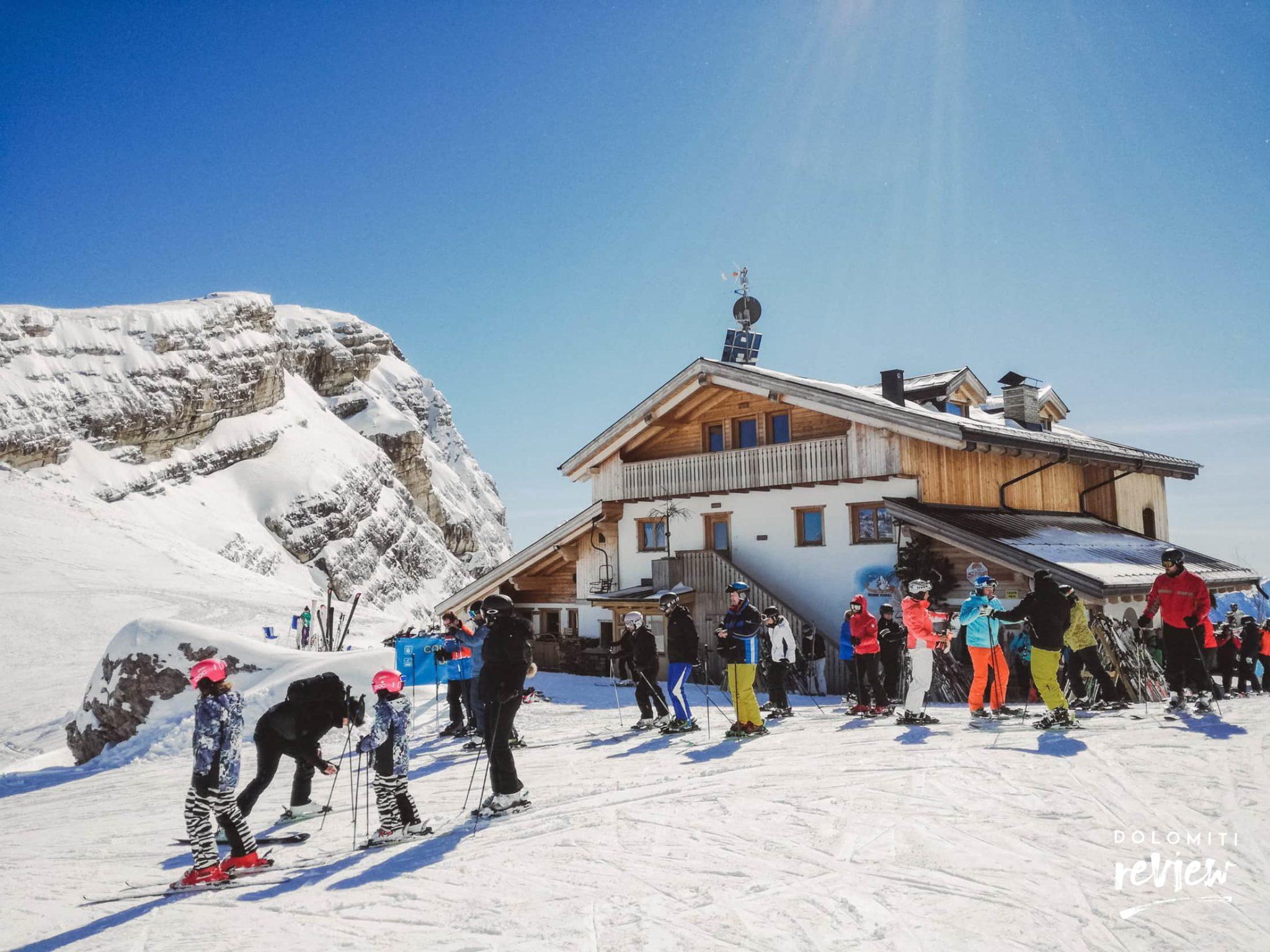Rifugio Averau in inverno, Cortina d'Ampezzo