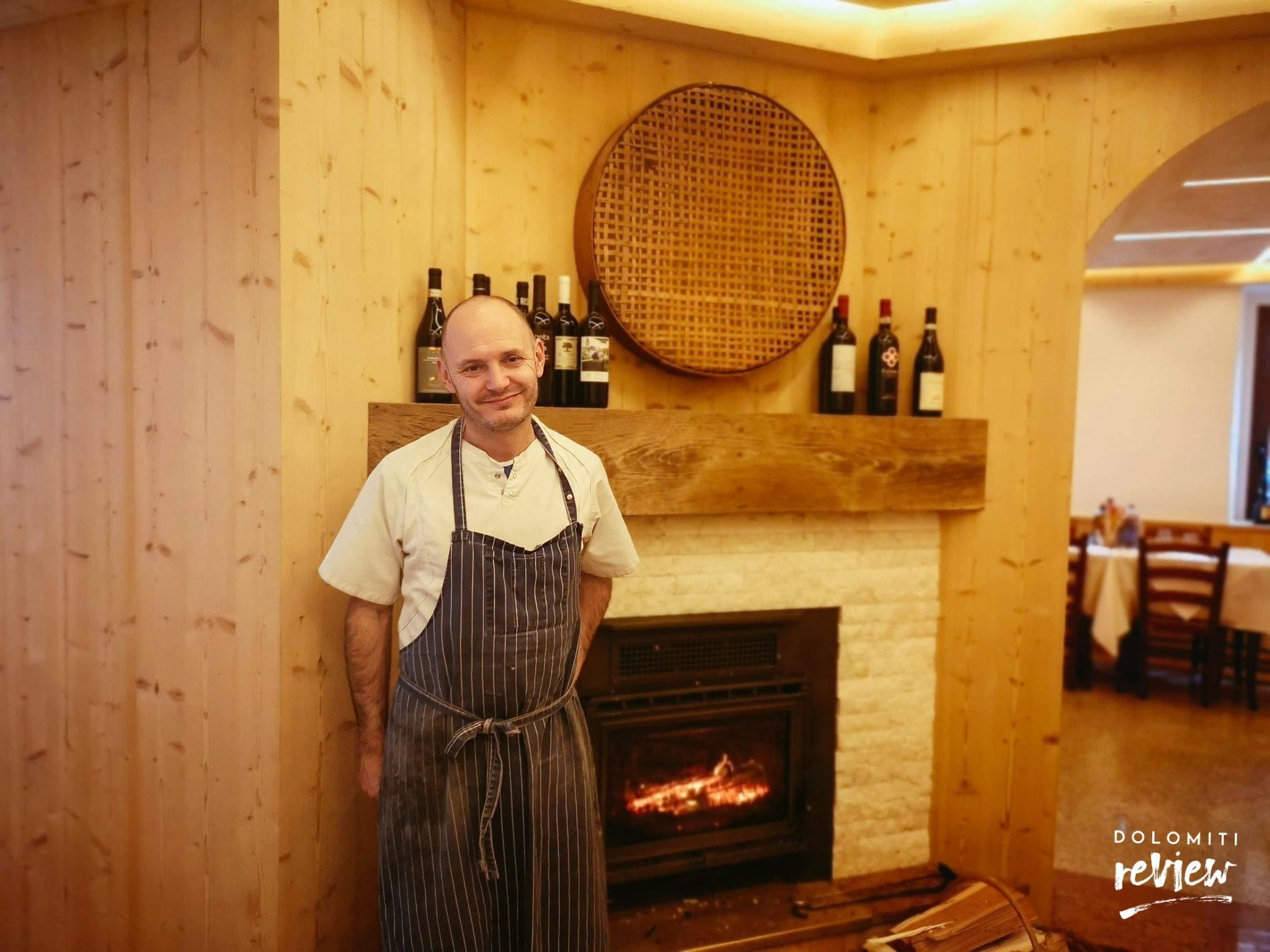 Andrea Forni, chef del ristorante La Favorita
