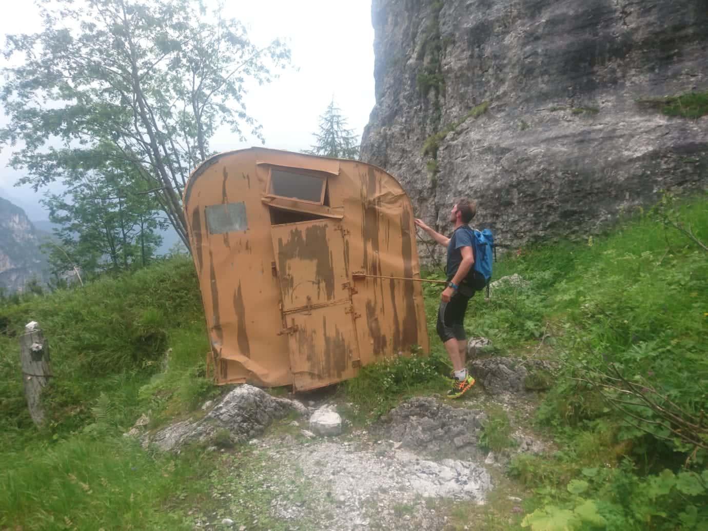 Vecchio Bivacco Fanton in Val Baion
