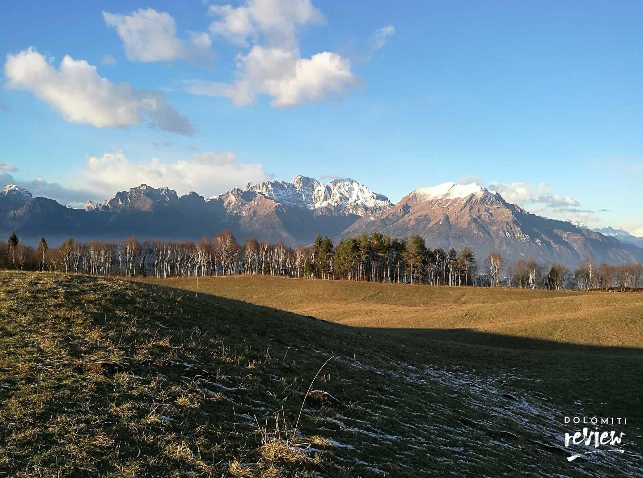 Anello di Modolo - panorama sul Serva e le Dolomiti