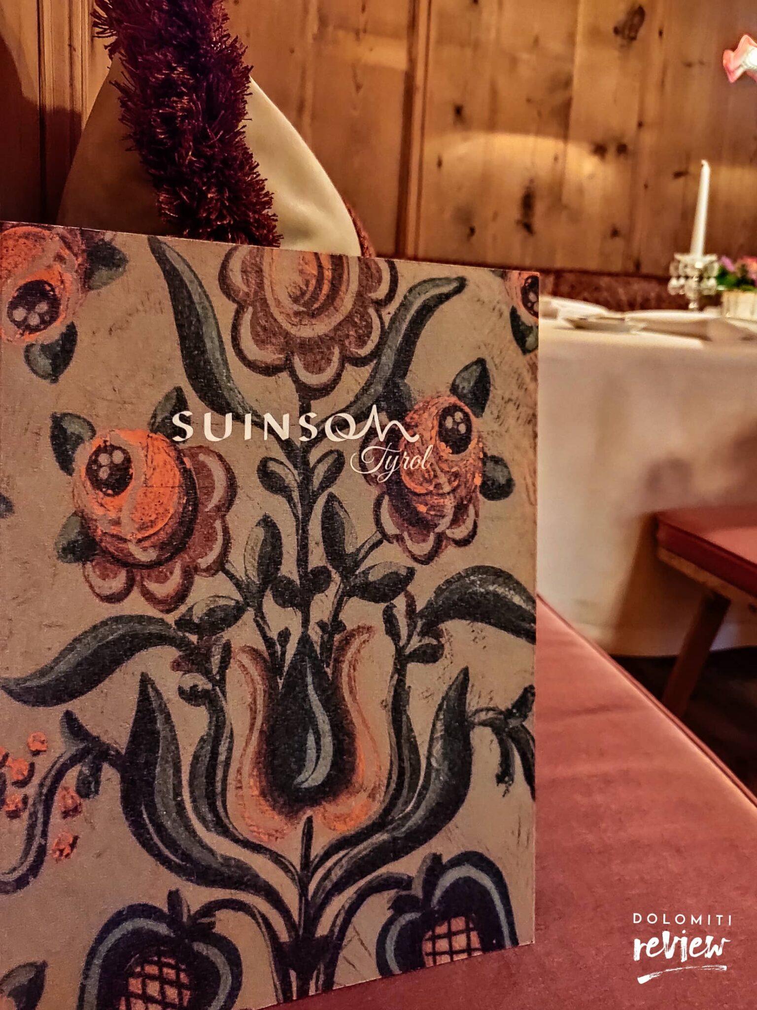 Suinsom menu ristorante